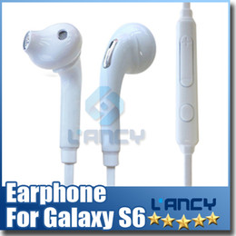 Wholesale S6 G920F G925 HEADSET WHITE EO EG920BW Stereo Earphones Headset Top Quality For Galaxy S4 S5 S6 Note with retail pkg