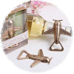 Wholesale Vintage Airplane Bottle Openers Wedding Decoration Supplies High Heeled Wedding Favor Key Chain Gift Box Christmas Gift BF001