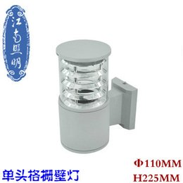 Wholesale Jiangnan aluminum outdoor wall lamp with a single head wall lamp waterproof aluminum grill patio balcony hallway wall sconce