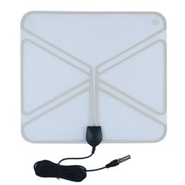 Wholesale HDTV Antenna Ultra Thin Indoor Amplified MHz Transparent Miles UltraThin Indoor Amplified HDTV Antenna TT B