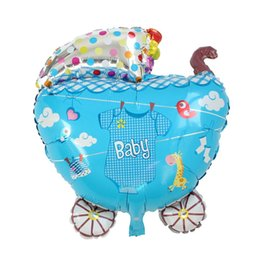 Wholesale Aluminium Foil Balloon Party Decorations Baby Carriage Multicolor Clothes Baby Shower Decoration x cm new