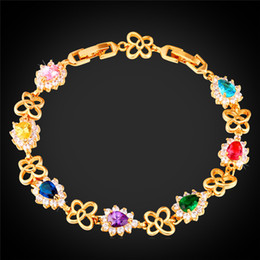 Resizable Gold Bracelet for Women Platinum 18K Gold Plated Exquisite Girly Butterfly Cubic Zirconia Charm Bracelet