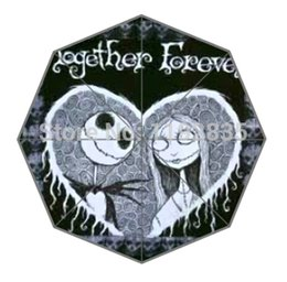 Wholesale-FREE SHIPPING Personalized Custom jack and sally picture for Printed Auto Foldable Umbrella! Hot sale!