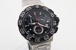 Christmas Gift Hot Sale Quartz Men's Wristwatch Anolog Black Face Stainless Steel Band Aouaracef AG 1333 500 Meters Male Watch