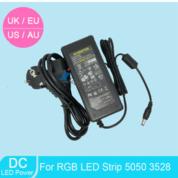 Wholesale 2pcs DC V A Power Supply Adapter Transformer For LED Light Ribbon Tape EU UK AU US Cord Plug Socket NEW