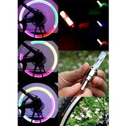 Nouvelle arrivée Vélo Tyr Valve Caps lumières colorées sécurité à bicyclette LED Wheel Valve Cap Spoke Light Light Sense BHU2 bicycle wheel valve lights safety promotion à partir de roue vélo lumières de soupapes de sécurité fournisseurs