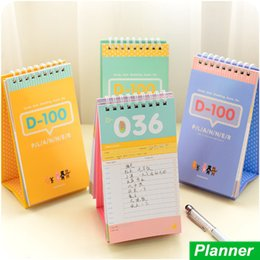 Wholesale 100 day count down planner for study diet wedding Agenda Diary book stationery caderno material escolar School supplies