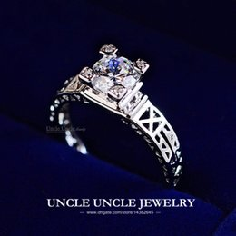 Wholesale The Eiffel Tower On Your Finger K White Gold Plated Zircon Champs Elysees Kiss Lady Finger Ring