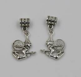 Wholesale Hot Antique Silver Witch Dangle Bead fit European Charm Bracelets x mm Jewelry DIY