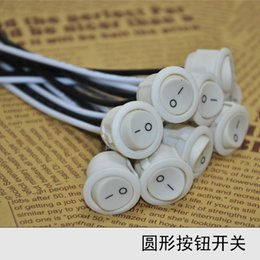 Wholesale 24pcs A Pushbutton lamp switches UL key switch Wire ON OFF switch lighting DIY accessories bedside lamps Wall Power switch