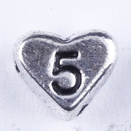 New fashion silver copper retro Love Pendant Manufacture DIY jewelry pendant fit Necklace or Bracelets charm 500pcs lot 2870 Number 5