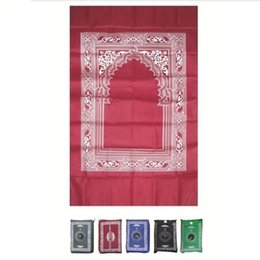 Wholesale Best selling traveller islamic rug pocket prayer mat with compass for muslim people prayers