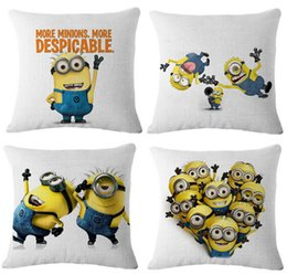 Wholesale Classic Pillow Cases - Despicable Me Minions cartoon Cushions movie character cushions car sofa home decor pillow covers office sleeping pillow cases classic