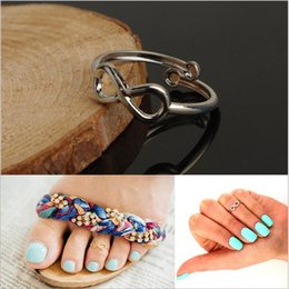 Wholesale New Brand toe rings Unique Simple and stylish silver gold Good luck eight cross infinity Toe Rings Foot ring midi finger rings boby jewelry