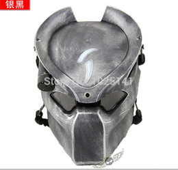 Wholesale-DC-14 Aline  Hunter Halloween Easter Party Mask W  Infrared Light Tactical  Mask Cosplay Movie Pro