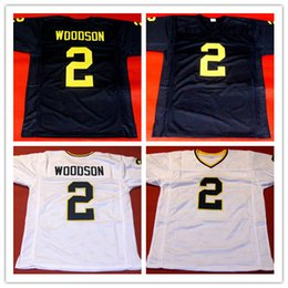 Factory Outlet- Charles Woodson Jersey,#2 Michigan Wolverines College Football Jerseys, Navy Blue Double Stitched Top Quality Cheap Jersey