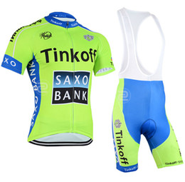 2015 team tinkoff saxo pro cycling jerseys short sleeve summer Quick-Dry Racing Bicycle ropa ciclismo cycling clothing bib pants GEL PAD