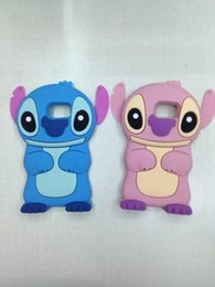 Wholesale 3D Stitch Lilo Movable Ear Cartoon Soft Silicone Rubber Gel Case For Samsung Galaxy S6 SVI G9200 Edge G925 Note5 Animal Gel skin Cute cover