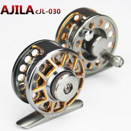 Wholesale CJL Full Metal Fly Reels BB Diameter MM Rock Fishing with a vent force Fishing reels D2