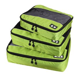 Wholesale Storage Cases For Clothes - 3Pcs Nylon Travel Luggage Essential Bags Clothes Pants Zipper Storage Mesh Case Sorting packages Convenient for travelling