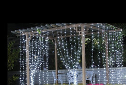 3m *2Ml Christmas tree lights flashing LED holiday string wedding stage curtain curtain waterproof decorative light strings AC110V-250V