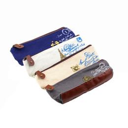 1pc Retro Canvas Pencil Pen Case Cosmetic Coin Wallet Storage Purse Zipper Pouch Pencil bag Newest