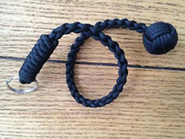 "Free Shipping Monkey Fist Keychain ""1"" Steel Ball Self , 550 Survival Paracord lanyard"