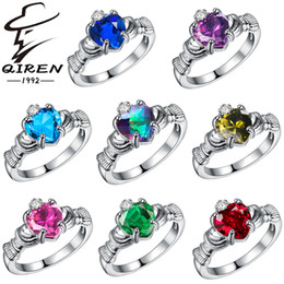 Wholesale 925 sterling silver rings women fashion AAA CZ diamond ring heart jewelry explosion models Christmas Gift high Quality color