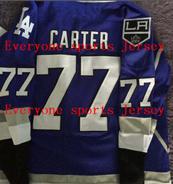 Wholesale Factory Outlet jeff carter LA Kings LA Dodgers blue pride jersey Mens Hockey Jersey or Custom any player for any name jerseys