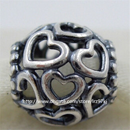New 100% 925 Sterling Silver Loose Beads Open Your Heart Charm Bead Fits European Jewelry Bracelets & Necklaces