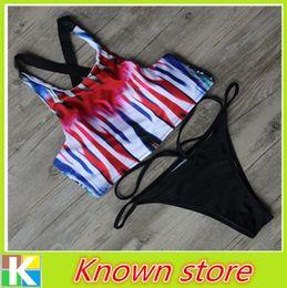 Nouveauté Printed High Neck Sexy Bikini 2016 Explosion Modèles Fashion Design Mesh Lady Swimwear Type creux maillot de bain à partir de haute couture modèles bikini fournisseurs
