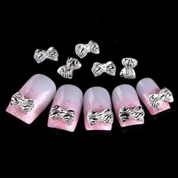 Wholesale-Free Shipping Wholesale  Nails Supplier,100pcs 3D Resin Glitter Zebra Bowtie DIY Acrylic UV Gel Polish Tool Nail Design Nail Art