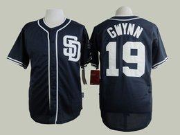 Wholesale San Diego Padres Tony Gwynn Navy Blue Jersey Cheap Baseball Jerseys Authentic Stitched Cool Base Jersey