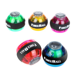 Wholesale Gyroscope LED Wrist Power Force Ball Grip Ball Arm Muscle Exercise Strengthener Speed Meter Colors H9925