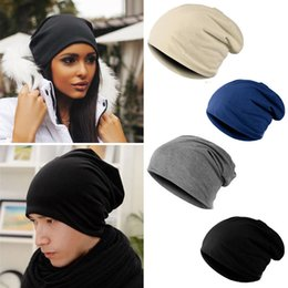 Wholesale Jersey Cotton Blended Beanie Slouch Warm Hat Festival Unisex Mens Ladies Caps Hats