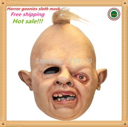 Hot sale Details about Halloween Costume Sloth Goonies Movie Horror Dress Up Latex Party Masks free shipping