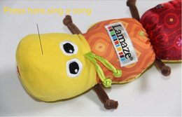 Wholesale 2015 Hot sale Lamaze Music BB device ring paper Caterpillars large bell Baby Toys Cute Plush Toys centipede