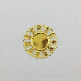 Wholesale Diy Fashion Jewelry findings accessories metal Sunflower Mirror antique silver charms for charm bracelets gold plated