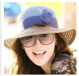 Promotion gros canotier Gros-Mode d'été de 2015 filles chapeaux nouvelle arrivée bowknot sexy canotier chapeau de plage chapeau de soleil femme formelle chapeau de soleil pour les femmes
