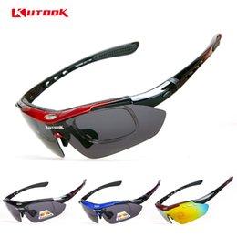 Wholesale-Kutook riding eyewear polarized ride bicycle glasses mountain bike outside sport belt myopia glasses