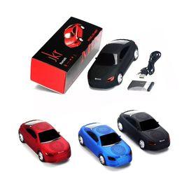 Promotion boîte de haut-parleur de radio Mini modèle de voiture Bluetooth design Haut-parleur sans fil subwoofer portable Haut-parleurs Musique MP3 Fonction TF Radio FM avec slot Retail Box