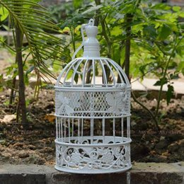 Wholesale White Butterfly Decoration Iron Bird Cage Dragonfly Fashion Birdcages