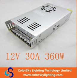 Promotion 12v ac chargeur Ac 100v -240v dc led alimentation 360w 30a 12v adaptateur secteur chargeur de batterie courant alternatif dc alimentation pour profil en aluminium bande led