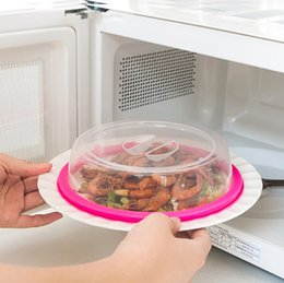 Free Shipping 19.5*4.5cm Plastic Kitchencraft Microwave Microwavable Plate Bowl Cover Dustproof Covers Kitchen Tools Cookware