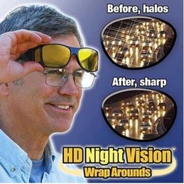 Jaune Et Noir une bonne Vision des Soins de la Conduite de Nuit HD Enrouler Autour de Lunettes de soleil Lunettes de Eyewears à partir de lunettes de soleil hd wrap fournisseurs