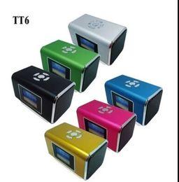 Wholesale Outdoor sports Mini Music speaker with LCD screen support Micro SD TF card FM radio Portable digital sound box Nizhi TT6