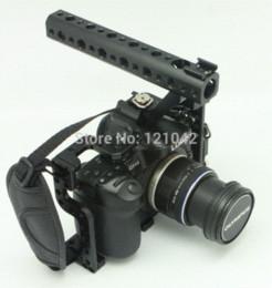 Jaula libre de la cámara del envío DSLR con el apretón superior de la manija para el aparejo Panasonic Lumix GH3 GH4 de la cámara desde aparejo de jaula fabricantes