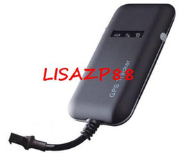 Wholesale 4 Band Car Mini GPS tracker GT02A Google link real time tracking Free Shipping