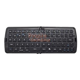 Wholesale-Wireless Foldable Bluetooth Keyboard For Laptop Tablet Smartphone Black P4PM