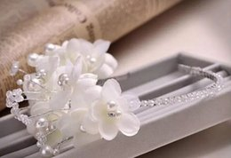 Wedding Party Bridal Bridesmaid Headband Tiara Crystal Rhinestone Flower Pearl
